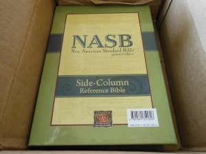 NASB Reference Bible Genuine Calfskin Black 001