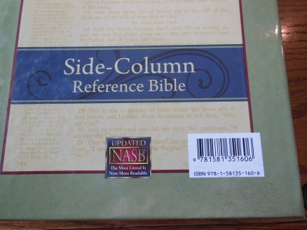 NASB Reference Bible Genuine Calfskin Black 002