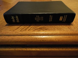 NASB Reference Bible Genuine Calfskin Black 009
