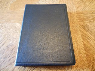 NASB Reference Bible Genuine Calfskin Black 010