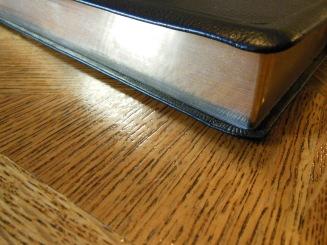 NASB Reference Bible Genuine Calfskin Black 013