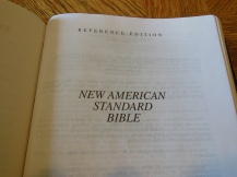 NASB Reference Bible Genuine Calfskin Black 018