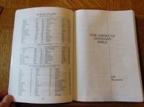 NASB Reference Bible Genuine Calfskin Black 023
