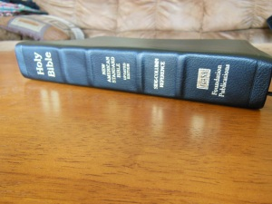 NASB Reference Bible Genuine Calfskin Black 043