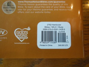 thomas nelson nkkv study bible hard cover 009
