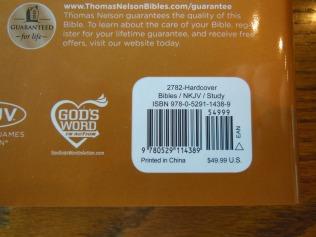 thomas nelson nkkv study bible hard cover 009