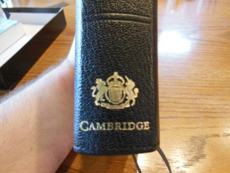 cambridge kjv, holman ministers kjv and funky lil kjv 082