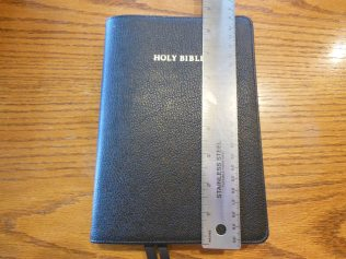 cambridge kjv, holman ministers kjv and funky lil kjv 086