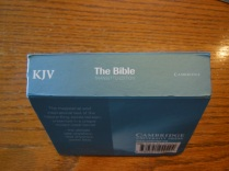 cambridge kjv, holman ministers kjv and funky lil kjv 093