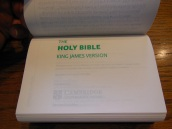 cambridge kjv, holman ministers kjv and funky lil kjv 104
