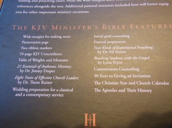 cambridge kjv, holman ministers kjv and funky lil kjv 144