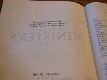 cambridge kjv, holman ministers kjv and funky lil kjv 162