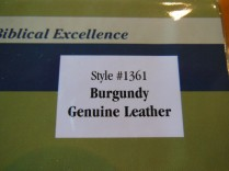 NASB Giant Print Burgundy 013