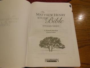 Matthew Henry kjv study Bible 021