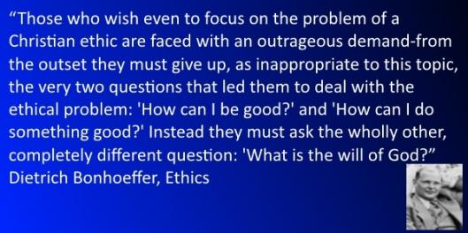 dietrich bonhoeffer ethics